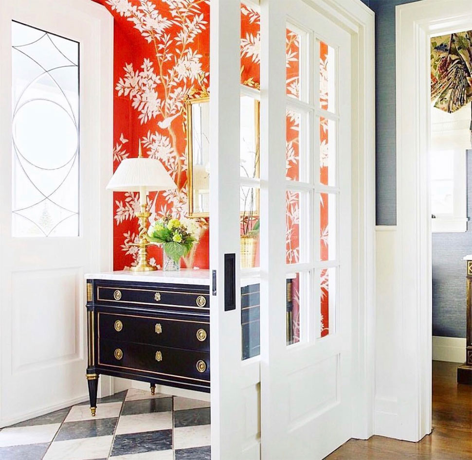 Orange entrway referenced in the Atlas Concorde USA blog from Alexandra Rae Design