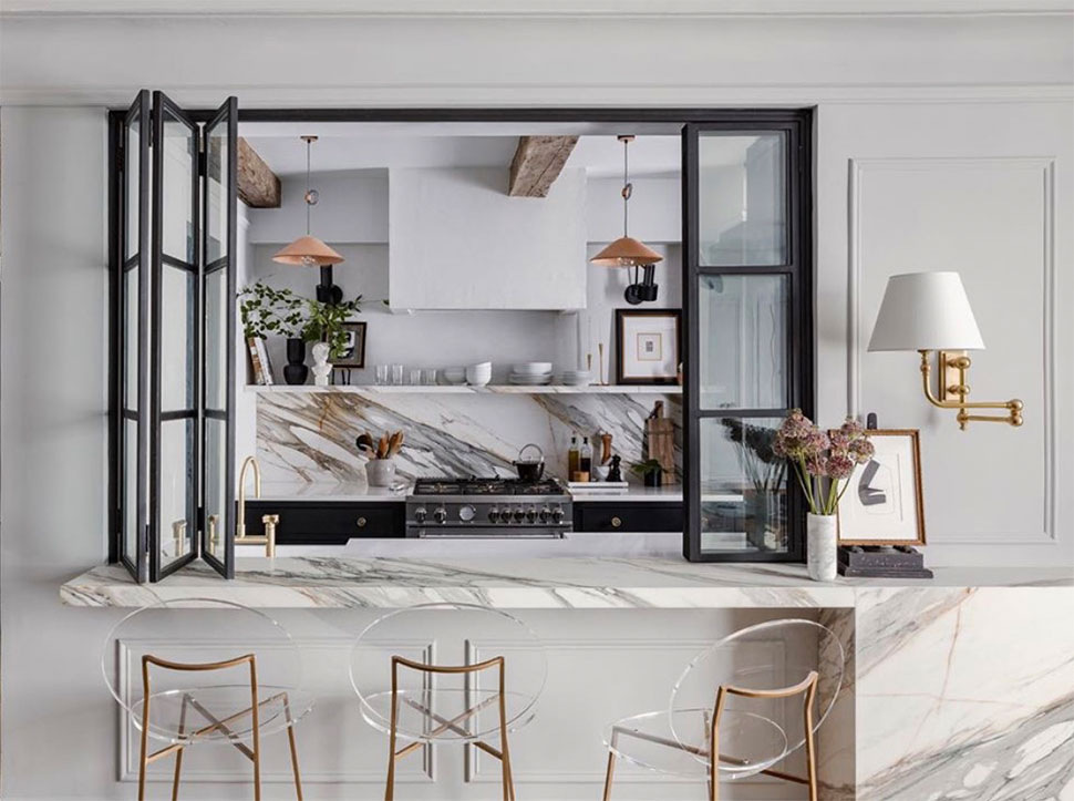 Kitchen bar referenced in the Atlas Concorde USA blog from Crystal Sinclair Designs
