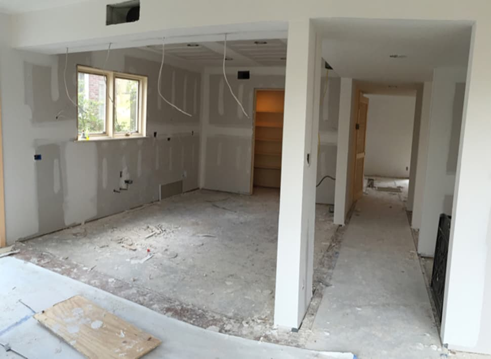Mid-Renovation image featured in the Atlas Concorde USA blog from Laurie Smith