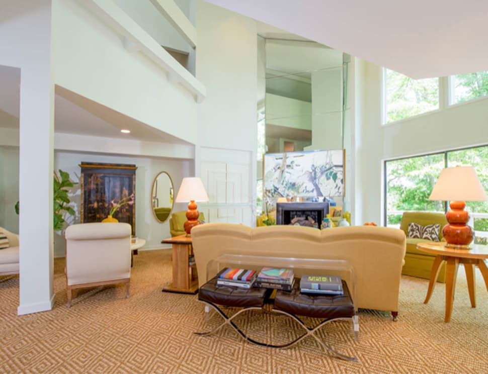 Post-renovation image of living room referenced in the Atlas Concorde USA blog from James Patterson