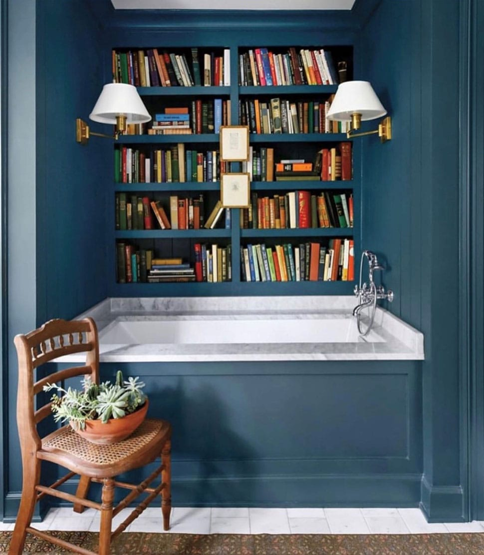 Bathroom image referenced in the Atlas Concorde USA blog from Stephanie Sabbe Interior Design