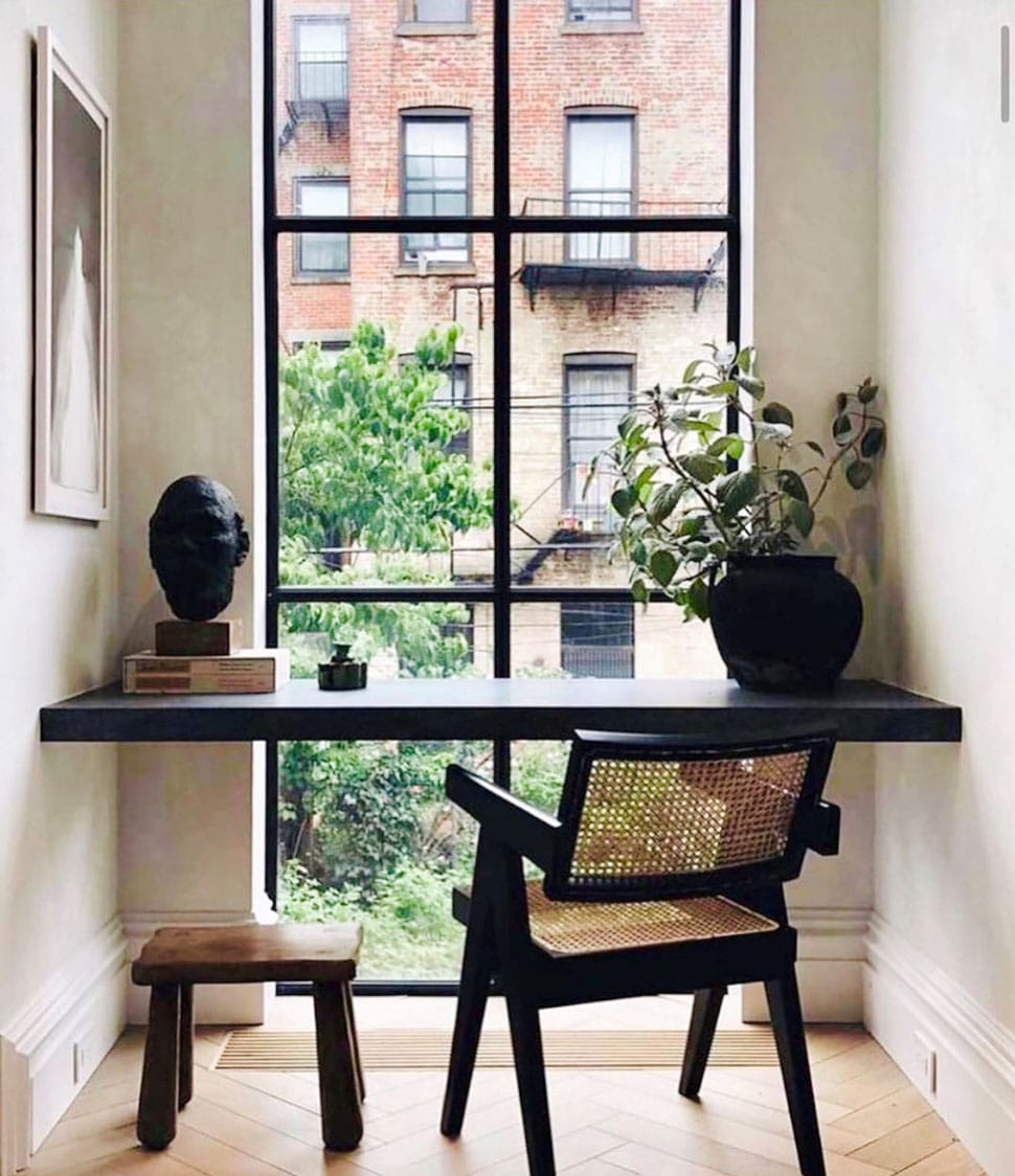 Window nook featuring a desk referenced in the Atlas Concorde USA blog from Ashley Stark