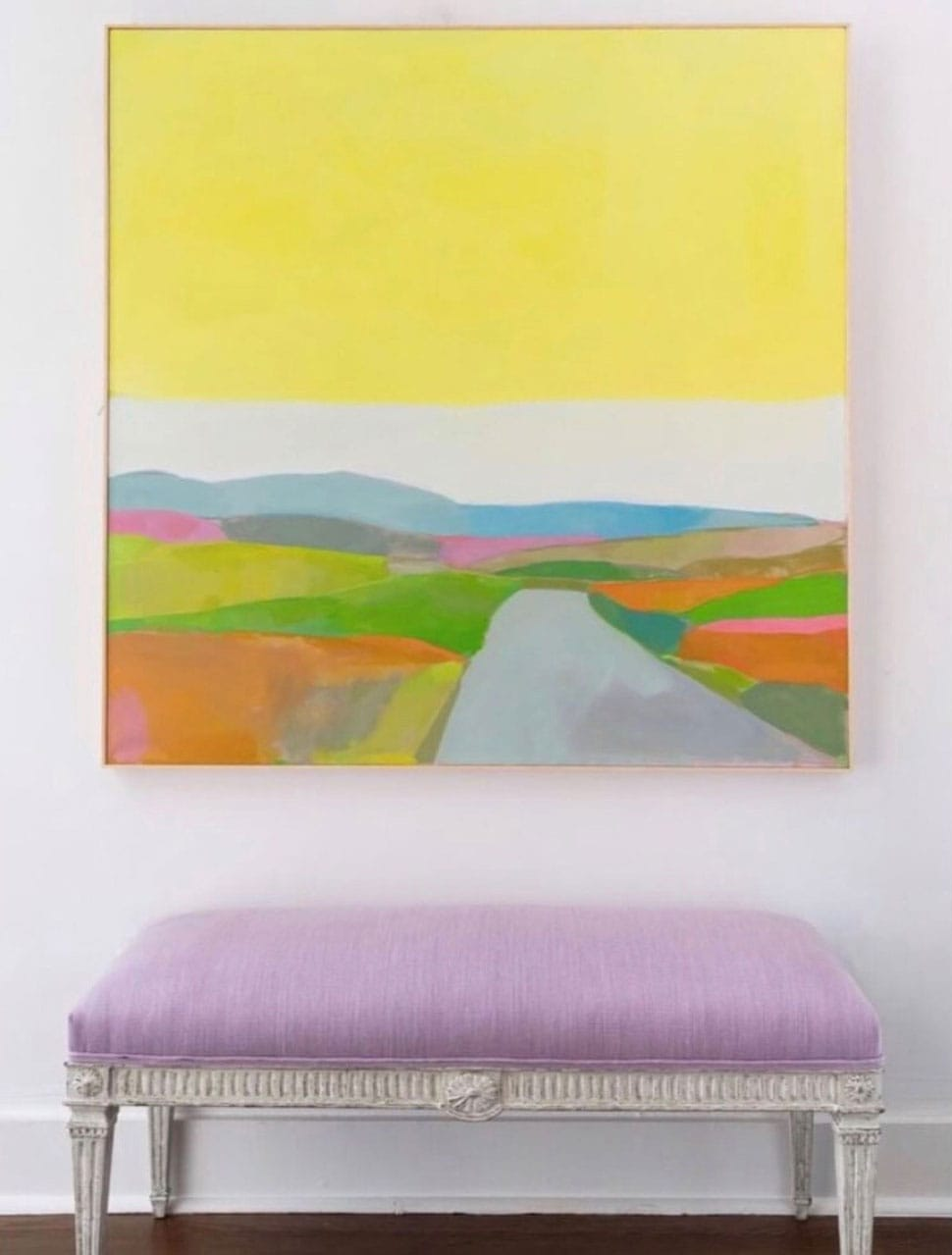 Colorful artwork featured in the Atlas Concorde USA blog from Christian Ladd Interiors