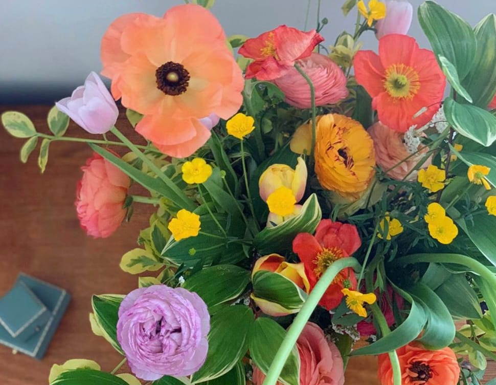 Image of colorful arrangement of flowers referenced in the Atlas Concorde USA blog from Ulla Johnson