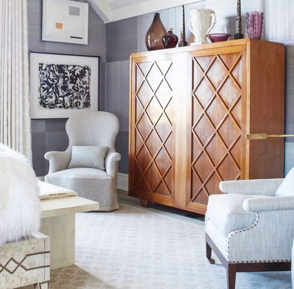 Bedroom with armoire referenced in the Atlas Concorde USA blog from James Micheal Howard