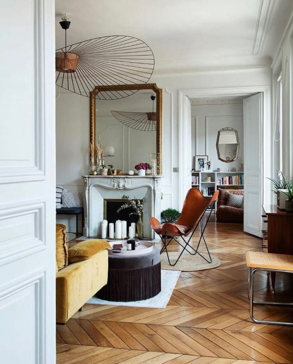 Wooden herringbone floor featured in the Atlas Concorde USA blog from Ashley Stark