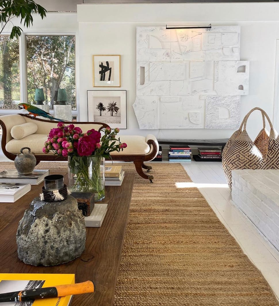 Living room with natural just rug referenced in the Atlas Concorde USA blog from William McLure