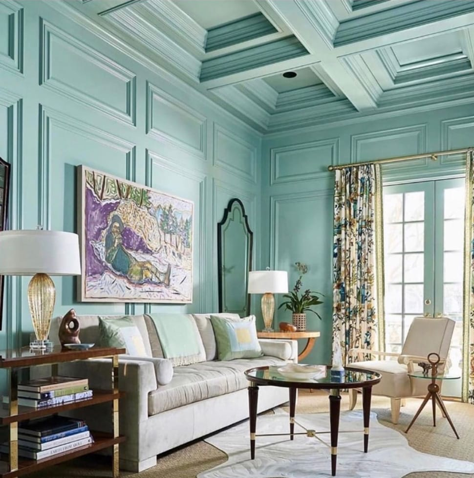 Image of painted walls and ceiling referenced in the Atlas Concorde USA blog from Christian Ladd Interiors
