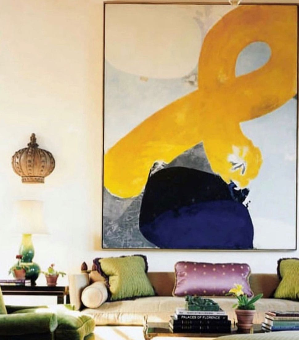Living room artwork referenced in the Atlas Concorde USA blog from Katie Ridder Inc