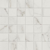 Liberty Collection Calacatta Centennial marble-look porcelain tile in 2x2 mosaic from Atlas Concorde USA - sample