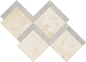 Shore Crest travertine-inspired porcelain tile in cubik mosaic from Atlas Concorde USA- sample