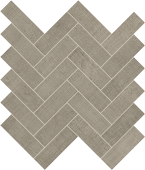 Fray Gray Herringbone Mosaic porcelain tile from Atlas Concorde USA - thumbnail