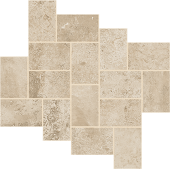 Exist Collection Ivory cement-look porcelain tile in step pattern from Atlas Concorde USA - sample