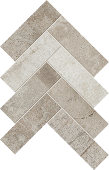 Herringbone pattern with a mix of Rift porcelain tiles from Atlas Concorde USA-sample