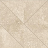 Shore Sand travertine-inspired porcelain tile in oblik mosaic from Atlas Concorde USA- sample