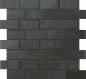 Forge Collection Steel metal-lookporcelain tile in brick mosaic pattern from Atlas Concorde USA - sample