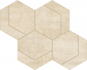 Fray Ivory Hexmark Mosaic porcelain tile from Atlas Concorde USA - thumbnail
