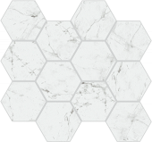 Eon Collection Carrara marble-look porcelain tile in honeycomb pattern from Atlas Concorde USA - Sample