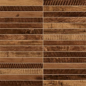 Redeem Collection Bourbon wood-look porcelain tile in tatami mosaic pattern from Atlas Concorde USA - sample
