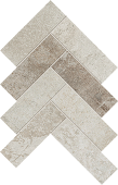 Herringbone pattern with a mix of lighter Rift porcelain tiles from Atlas Concorde USA-sample