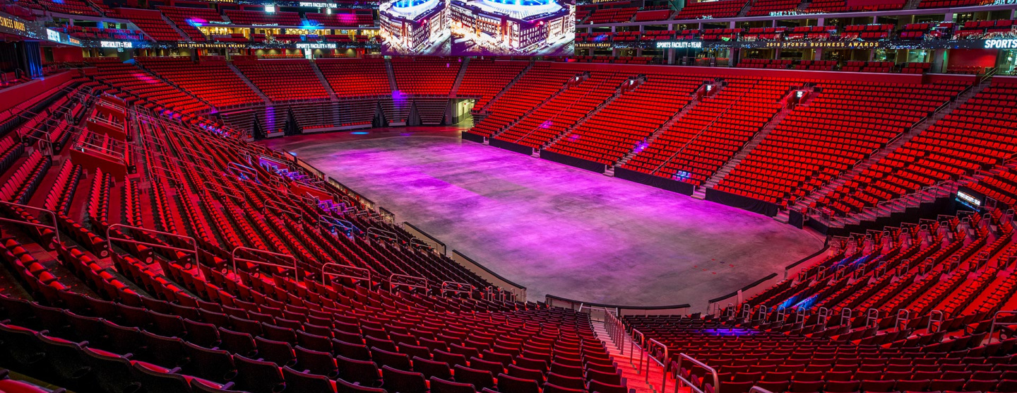 Cover image of Inside arena of Little Caesars Arena in Detroit that features Atlas Concorde tiles