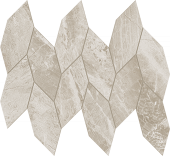 Impression Collection Gray marble-look porcelain tile in leaf mosaic from Atlas Concorde USA - sample