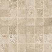 Exist Collection Ivory cement-look porcelain tile in 2x2 mosaic from Atlas Concorde USA - sample