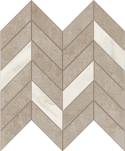 Cove Coast chalk-look porcelain tile in dart pattern from Atlas Concorde USA - sample
