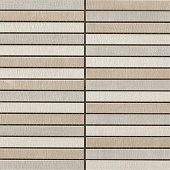 Fray Collection Tatami Cold fabric-look porcelain tile in tatami mosaic pattern from Atlas Concorde USA - sample