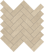 Fray Sand Herringbone Mosaic fabric-look porcelain tile from Atlas Concorde USA - thumbnail
