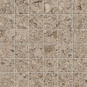 Korc Collection Gray cork-look porcelain tile in 2x2 mosaic from Atlas Concorde USA - sample