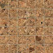 Korc Collection Natural cork-look porcelain tile in 2x2 mosaic from Atlas Concorde USA - sample