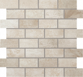 Forge Collection Tin metal-look porcelain tile in brick mosaic pattern from Atlas Concorde USA - sample