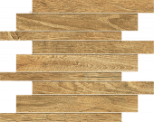 Haven Collection Honey wood-look porcelain tile in brick mosaic pattern from Atlas Concorde USA - sample