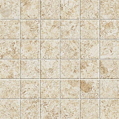 Korc Collection Ivory cork-look porcelain tile in 2x2 mosaic from Atlas Concorde USA - sample