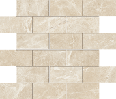 Liberty Collection Monument Cream marble-look porcelain tile in mosaic pattern from Atlas Concorde USA - Sample
