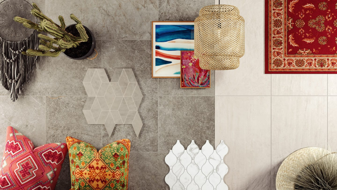 Witness a new look with this Atlas Concorde USA Bohemian MOOD collection sample board.