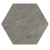Outland Gray  Multi-Hex Mosaic porcelain tile from Atlas Concorde USA - thumbnail