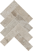 Herringbone pattern with Rift Gravel porcelain tile from Atlas Concorde USA-sample