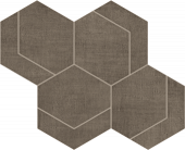 Fray Collection Tobacco Hexmark porcelain tile from Atlas Concorde USA - thumbnail