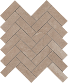 Eon Collection Corinthian Beige marble-look porcelain tile in herringbone pattern from Atlas Concorde USA - Sample