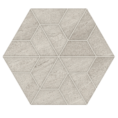 Outland Silver Multi-Hex Mosaic porcelain tile from Atlas Concorde USA - thumbnail
