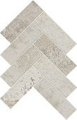 Herringbone pattern with Rift Chalk porcelain tile from Atlas Concorde USA-sample