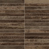 Redeem Collection Ash wood-look porcelain tile in tatami mosaic pattern from Atlas Concorde USA - sample