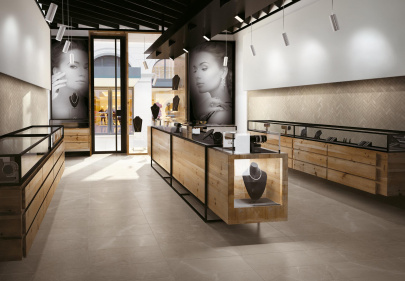 Beautiful porcelain tile with a marble look from the Atlas Concorde USA Eon Collection