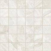 Impression Collection White marble-look porcelain tile in 2x2 mosaic from Atlas Concorde USA - sample