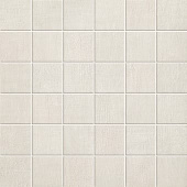 Fray Collection White fabric-look porcelain tile in 2x2 mosaic from Atlas Concorde USA - sample