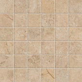 Native Collection South Limestone stone-look porcelain tile in 2x2 mosaic from Atlas Concorde USA - sample