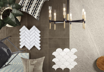 Get a taste of design with this Atlas Concorde USA Modern Farmhouse MOOD collection sample board.