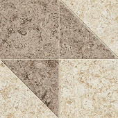 Korc Collection Natural cork-look porcelain tile in arrow pattern from Atlas Concorde USA - Sample